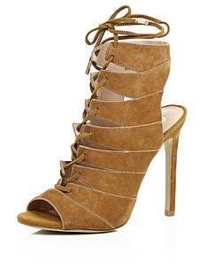 river-island-caged-tie-up-suede-open-heel-sandal
