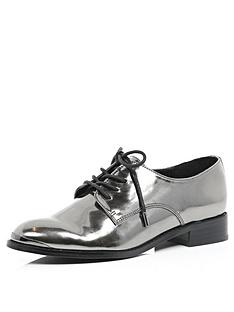 river-island-pewter-lace-up-brogues