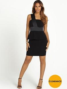 rochelle-humes-one-shoulder-peplum-dress