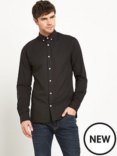 jack-jones-david-mens-oxford-shirt-ndash-black