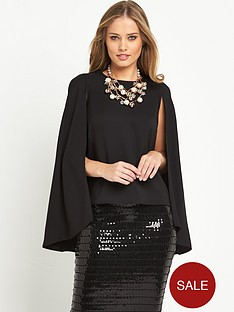 v-by-very-satin-back-crepe-caped-top