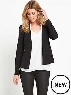 v-by-very-contrast-edge-to-edge-jacket-black