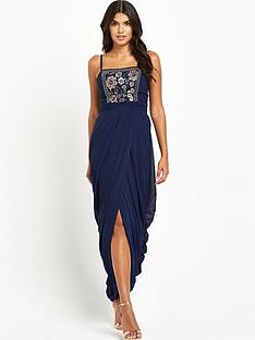 little-mistress-split-front-maxi-dress