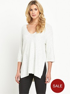 oasis-sequin-v-neck-jumper