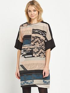 warehouse-tapestry-landscape-print-dress