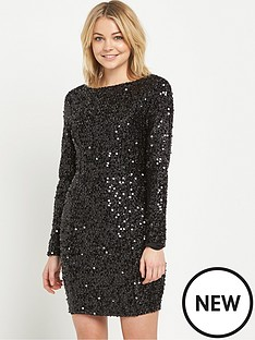 warehouse-tinsel-sequin-dress