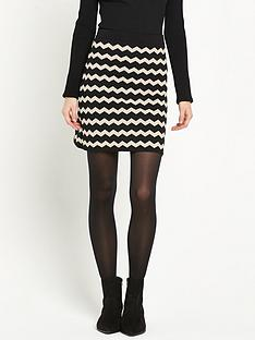 warehouse-compact-chevron-skirt