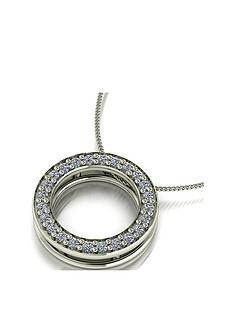 moissanite-premium-collection-9ct-white-gold-25-point-circle-pendant