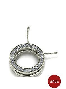 moissanite-premium-collection-9ct-white-gold-25-point-circle-pendant