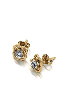 moissanite-9ct-gold-50-point-moissanite-knot-earrings