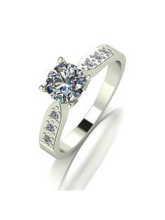 moissanite-9ct-gold-1-carat-round-brilliant-solitaire-ring-with-moissanite-set-shoulders