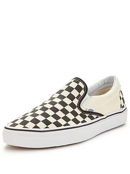 fee95d6df9c Vans Classic Checkerboard Slip-On Plimsolls