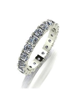 Moissanite  9Ct Gold 2 Carat Full Eternity Ring