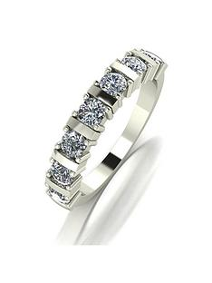 moissanite-9ct-gold-bar-set-1-carat-7-stone-ring