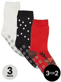 freespirit-girls-gripper-sole-christmas-socks