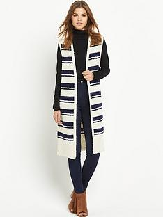 south-stripe-knitted-waistcoatnbsp