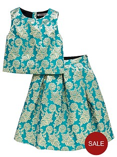 freespirit-girls-jacquard-shell-top-and-pleated-skirt-set-2-piece