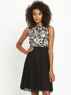 little-mistress-sequin-top-skater-dress