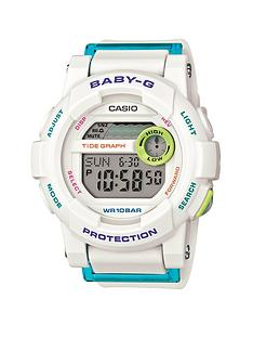 baby-g-digital-g-lide-turquoise-white-strap-ladies-watch