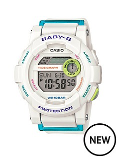 baby-g-digital-g-lide-turquoise-white-strap-ladies-watch