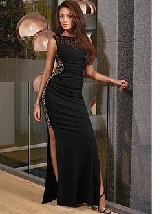 lipsy-michelle-keegan-black-glitter-maxi-dress
