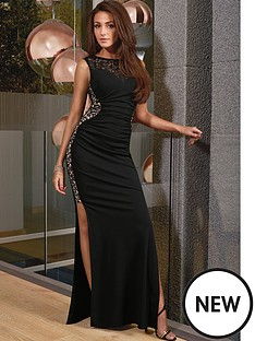 lipsy-michelle-keegan-black-glitter-maxi-dress