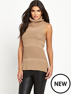 lipsy-lipsy-fleur-sleeveless-knitted-roll-neck
