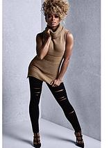 By Fleur East Sleeveless Knitted Roll Neck