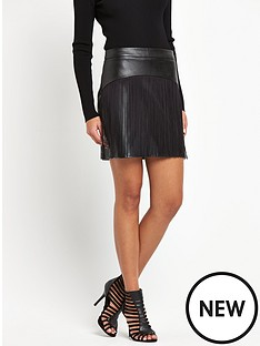 lipsy-lipsy-fleur-east-faux-leather-tasselled-mini-skirt