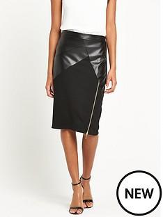 lipsy-michelle-keegan-pu-ponte-zip-front-pencil-skirt