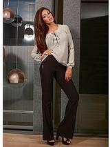 Michelle Keegan Black Smart Flare Trouser
