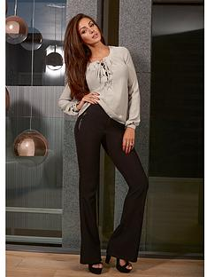 lipsy-michelle-keegan-black-smart-flare-trouser
