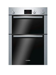 bosch-serienbsp6nbsphbm13b251bnbspbuilt-in-electric-double-hot-air-oven-brushed-stainless-steel
