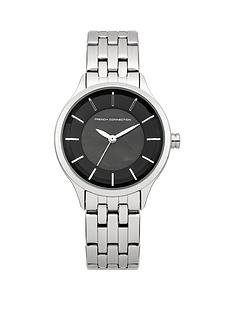 french-connection-french-connection-black-dial-silver-tone-stainless-steel-bracelet-ladies-watch