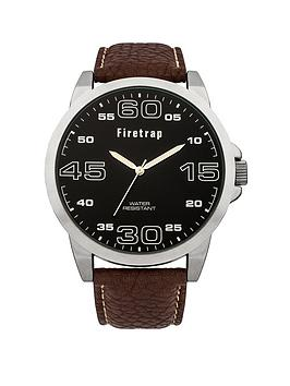 firetrap-firetrap-black-dial-brown-pu-strap-mens