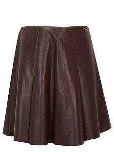 river-island-girls-pu-fluted-skirt