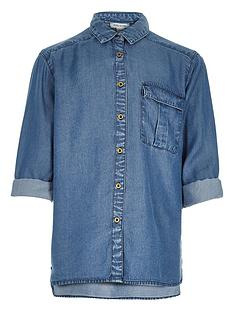 river-island-girls-oversized-denim-tencel-shirt