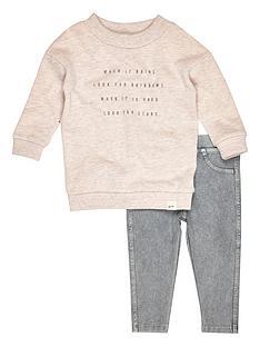 river-island-mini-mini-girls-slogan-sweater-and-grey-jeggingsnbspset-2-piece