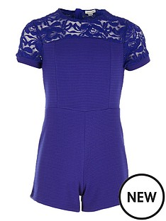 river-island-girls-rib-and-lace-playsuit