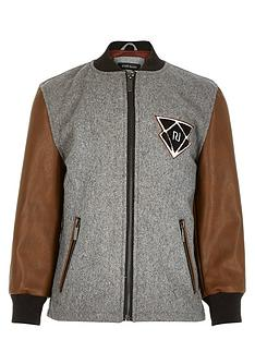 river-island-boys-grey-pu-sleeve-bomber-jacket