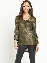 Glitter Zip Blouse