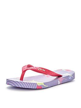 joules-junior-girls-horse-print-flip-flops