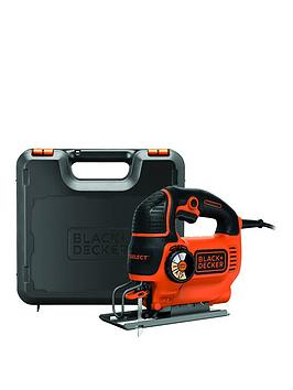Black & Decker Ks801SekGb 550Watt Automatic Speed Select Compact Jigsaw With Kitbox