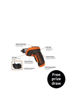 black-decker-cs3652lc-gb-36-volt-cordless-lithium-ion-screwdrivernbspfree-prize-draw-entry