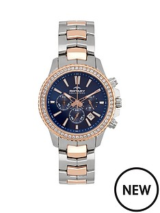 rotary-rotary-blue-multifunction-date-dial-two-tone-rose-gold-plated-bracelet-ladies-watch