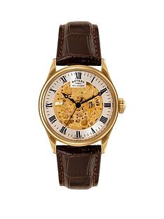 rotary-rotary-automatic-skeleton-silver-roman-dial-gold-plated-black-leather-strap-mens-watch