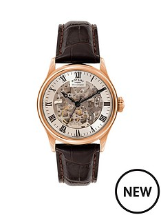 rotary-rotary-automatic-skeleton-white-roman-dial-rose-gold-plated-black-leather-strap-mens-watch