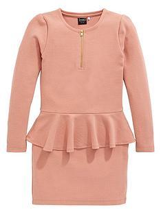 name-it-girls-long-sleeve-brushed-jersey-peplumnbspdress