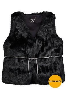 name-it-girls-shaggy-faux-fur-gilet