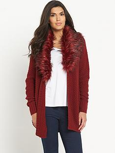 south-faux-fur-collar-cardigannbsp